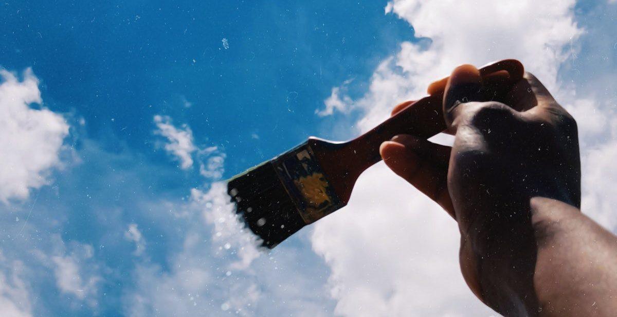 Paintbrush against the sky
