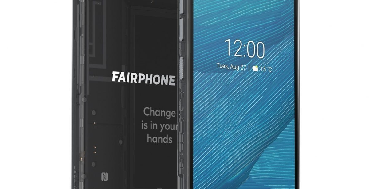 Fairphone 3 smartphone front and back