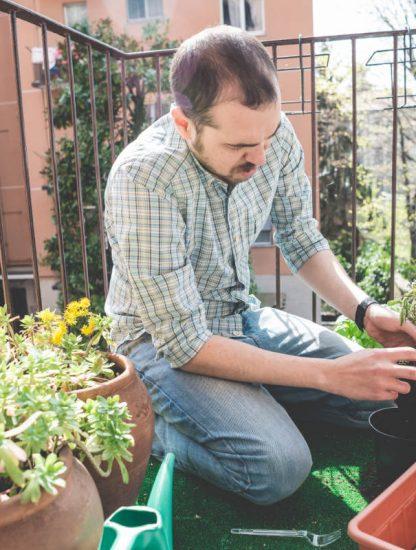 Bloke gardening