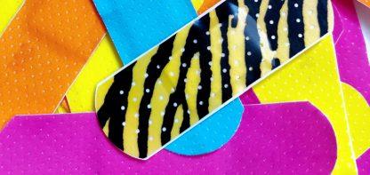 Colourful band-aids