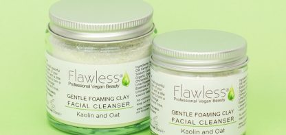 Two vegan beauty products in glass jars