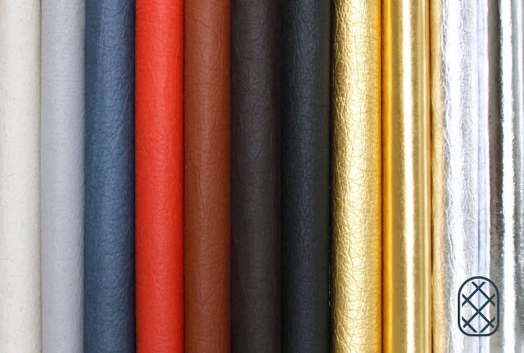 Many different colours of pineapple leather