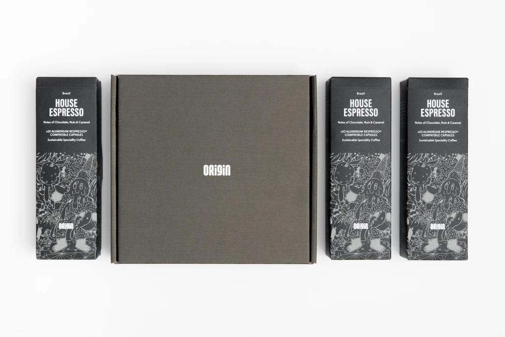 Origin Coffee House recyclable espresso capsules