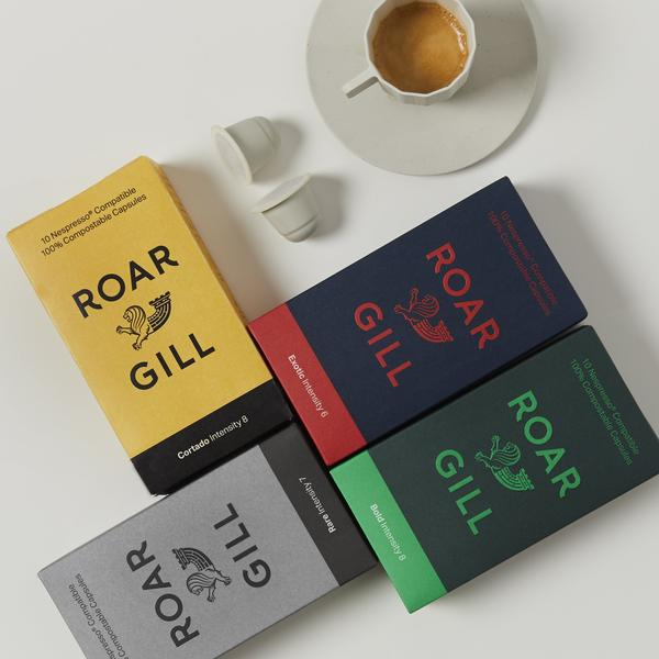 Roar Gill compostable coffee pods